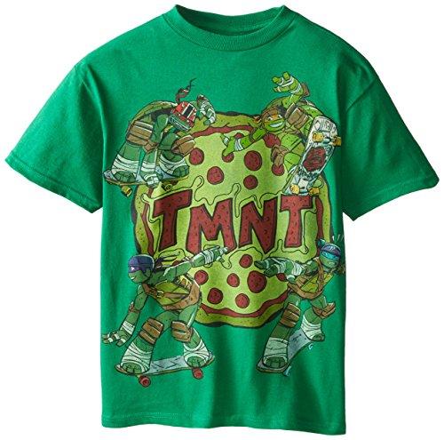 Teenage Mutant Ninja Turtles Big Boys' Pizza T-Shirt, Green, Large