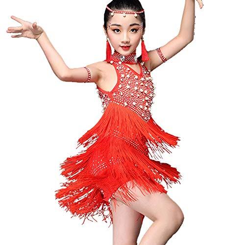 YONGMEI Traje de Baile - Trajes de Baile Latino para niños Nuevo Concurso  de Vestuario de 7eb8b8aedf369
