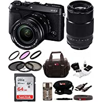 Fujifilm X-E3 Mirrorless Camera w/ XF18-55mm & 80mm F2.8 R LM OIS WR Lens Focus Deluxe Kit