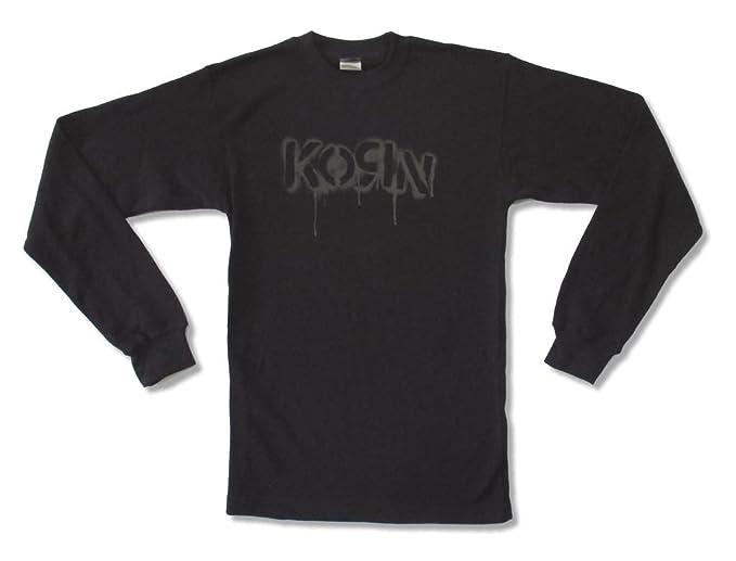 Awe Inspiring Amazon Com Korn Stencil Dripping Logo Adult Mens Black Machost Co Dining Chair Design Ideas Machostcouk