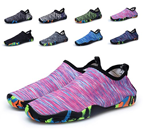 Herobest Men Womens Barefoot Quick-Dry Water Sports Aqua Shoes For Surf Yoga Water Aerobics Pink 7OlMIMr