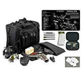 Explorer Rangemaster II - Large Black Padded Deluxe Tactical Range - Gear Bag - Walther PPQ TekMat & 25 Pc Handgun Master Cleaning Kit with Patches