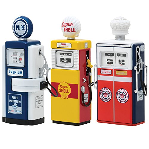 - Vintage Gas Pump Series 3 Set of 3 Pumps 1/18 Diecast Models by Greenlight 14030 A B C