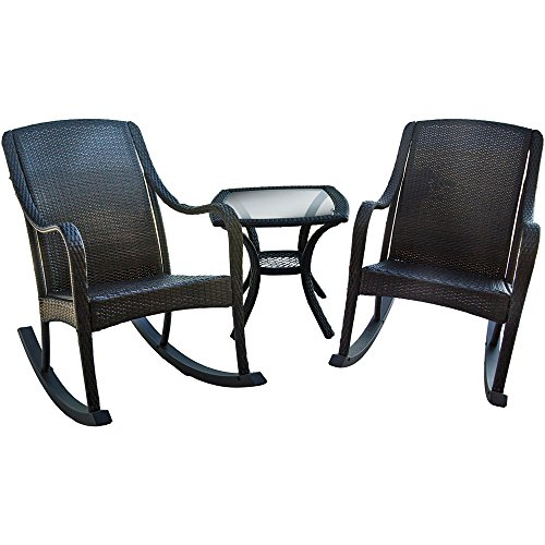 Hanover Outdoor Furniture 3 Piece Orleans Rocking Patio Set