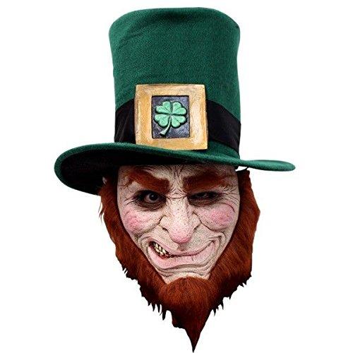 Ghoulish Productions Irish Goblin Evil Leprechaun Adult Mask Horror Halloween