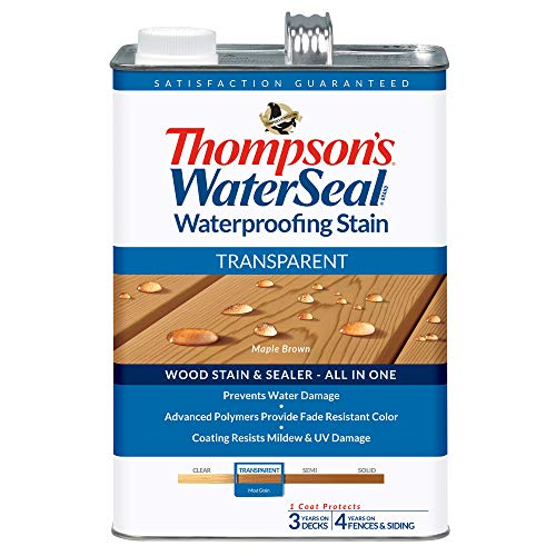 THOMPSONS WATERSEAL TH.041821-16 Transparent Waterproofing Stain, Maple Brown (Thompson Water Seal On Pressure Treated Wood)