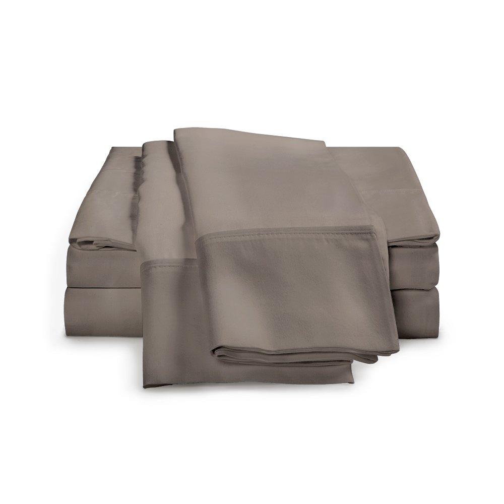 100%エジプト綿シーツセット 1000スレッドカウント| ホテルラグジュアリーシングルプライ サテンウィーブ| セットにはフラットシーツ1枚 ボックスシーツ1枚 枕カバー2枚が含まれています フル グレー 1000FLSH SL GY B01ACS12G0 フル|グレー グレー フル