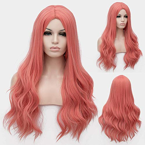 Similar Cosplay Long Wavy Full Synthetic Wigs Fluffy Hair Wig with Cap Halloween Gift,25,28inches