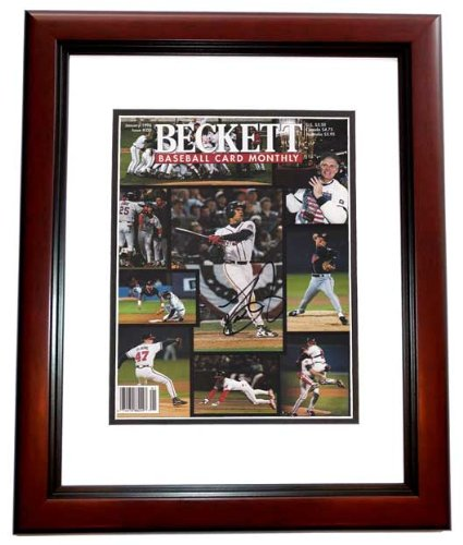Dave Justice Signed - Autographed Beckett Magazine Cover MAHOGANY CUSTOM FRAME - Atlanta Braves 1995 World Series Champions - PSA/DNA Certificate of Authenticity (COA)