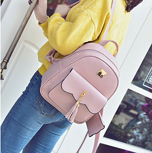 Women Design Backpack Backpack for Girls Fashion Pink Casual Fashion Simple Quilted ZfrfHwtq