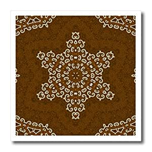 ht_42503_1 Houk Digital Abstraction Art - Fancy Kaleidoscopes - Arabic Napkin Star Mandala - Iron on Heat Transfers - 8x8 Iron on Heat Transfer for White Material