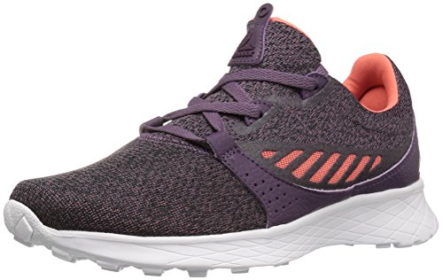 Reebok Women's ELLE Running Shoe HTHR - Kvs/Meteorite/Black/Fire Coral/Pacific Purple/White 6 M - Running Fire Shoe Road