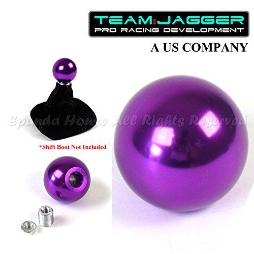 Team Jagger USA Round Anodized Purple Billet Aluminum Manual Gear Stick Shift Knob M10x1.5 Threaded