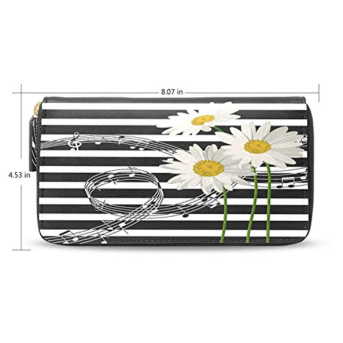 Long Passport Daisy Wallets Hnadbag Organizer Card Case Holder Clutch Purses by HJudge