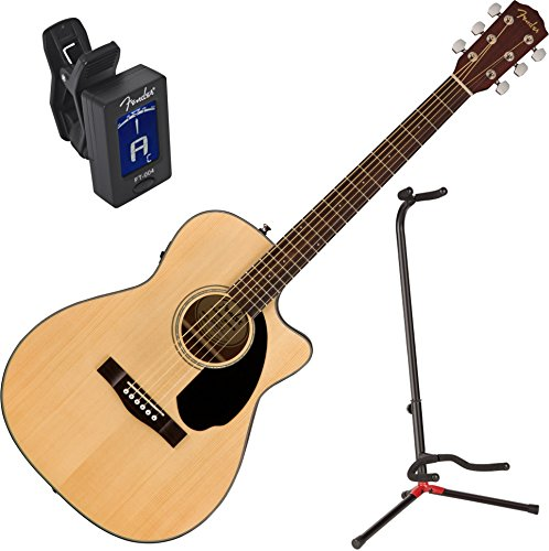 Fender CC-60SCE Natural Solid Top Concert Acoustic Electric
