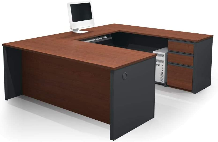 Bestar U-Shaped Desk with Pedestal – Prestige Plus