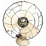 Global Art World Antique Vintage Pedestal Rallis Genuine Quality Original Electric Fan HB 087