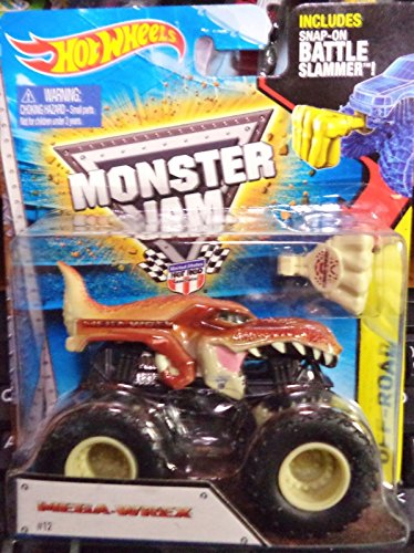 Qiyun 2015 Hot Wheels Monster Jam Truck Mega Wrex Includes Battle Slammer