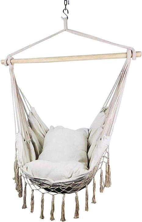 Hamac pour 2 personnes 185 x 153 cm Suspendu Balançoire Suspendu Chaise Longue à 150 kg