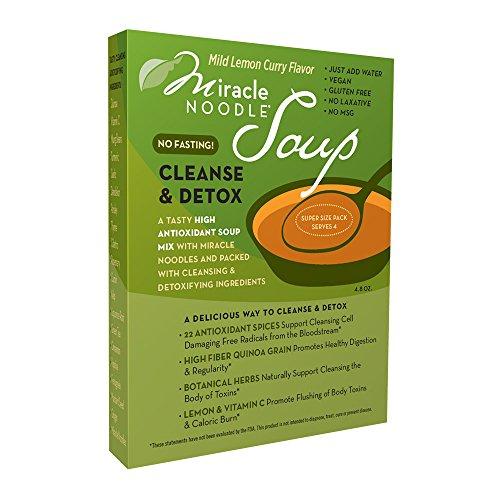 Miracle Noodle Cleanse and Detox Soup, Mild Lemon Curry, 11.5 Ounce