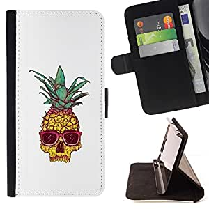 Momo Phone Case / Flip Funda de Cuero Case Cover - Enfriar Weed Blanca 420 Shades - Samsung Galaxy J3 GSM-J300