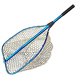 Roomax big fly fishing landing net rubber for Dip nets for fishing