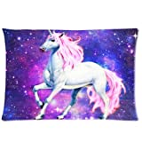 Nebula Galaxy Space Unicorn Pillowcase - Pillowcase with Zipper, Pillow Protector, Best Pillow Cover - Standard Size 20x30 inches, One-sided Print