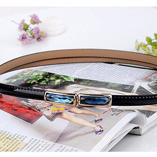 LONFENNE Women Ms lady Waist belt female drill decorative dress belt fashion skirt waist chain. black