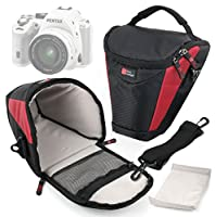 DURAGADGET Portable, Water-Resistant Camera Carry Case for the NEW Pentax K-S2 SLR Camera - With Detachable Shoulder Strap