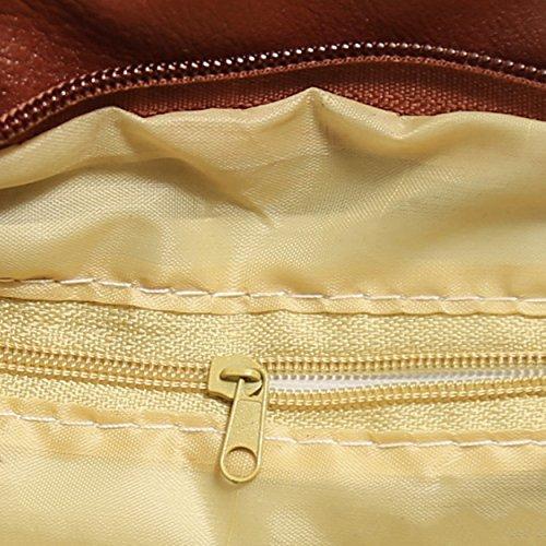 Womens Messenger Leather Tassel FUNOC Bag Stylish Shoulder Crossbody Black Bag 5ZTqO