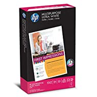 HP Printer Paper, Multipurpose Ultra White, 20lb, 8.5 x 14, Legal, 96 Bright - 500 Sheets / 1 Ream (001420R) Made In The USA