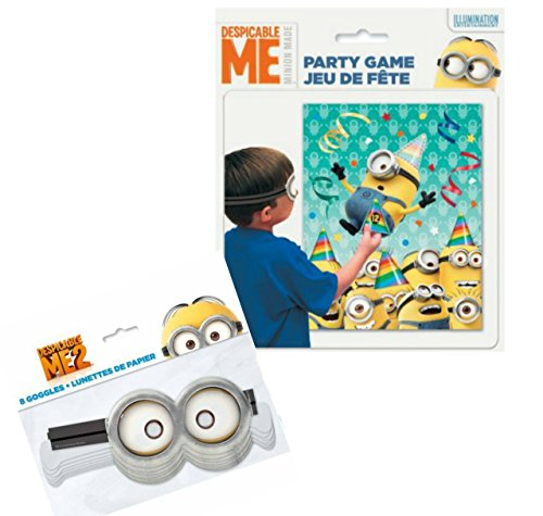 Mickey Mouse Stick Figure Costume (Despicable Me Party Game Bundle - 1 Party Game with Despicable Me Googles)
