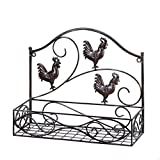 VERDUGO GIFT CO Three Roosters Wall Basket