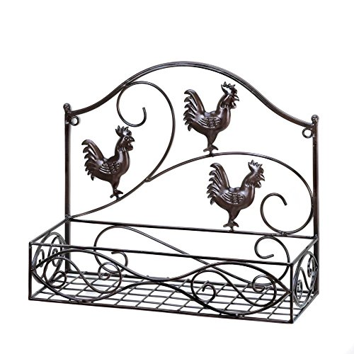 - VERDUGO GIFT CO Three Roosters Wall Basket