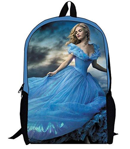 """17"""" 2015 Moive Cinderella Ella Backpack Schoolbag Book Bag For Travel Sport"""