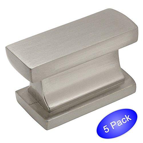 """Cosmas® 701SN Satin Nickel Contemporary Cabinet Hardware Knob - 1-7/16"""" Length - 5 Pack"""