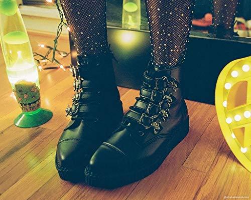 Boucle Tukskin Noir Hommes k De Femmes Shoes Noires u Crâne Pointu Botte T xwqAzpIqB