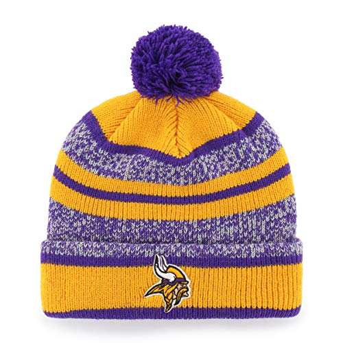 - NFL Minnesota Vikings Huset OTS Cuff Knit Cap with Pom, Purple, One Size