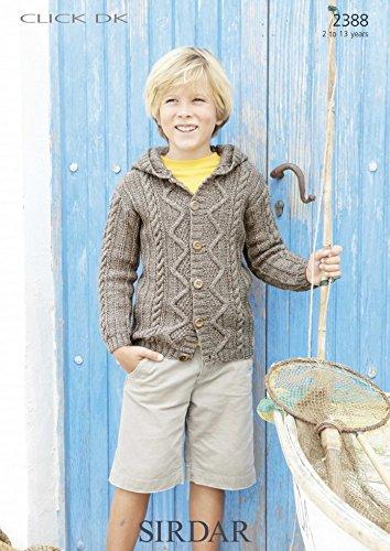 a5894474b Sirdar Children s Click DK Hooded Cardigan Knitting Pattern 2388  Amazon.co. uk  Kitchen   Home