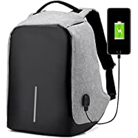 Rewy AT-1559 Anti Theft Backpack Waterproof Business Laptop Bag with USB Charging Port for Laptop, Notebook, Camera and Mobile - Random Colour