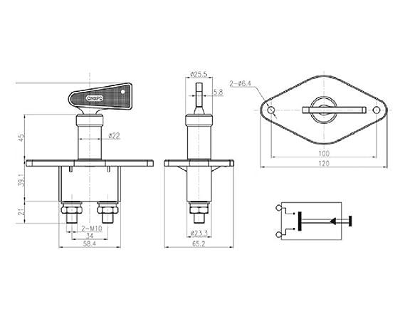 The Drive - 17818 - Batterie-Trennschalter MN 6-24V: Amazon.de: Auto