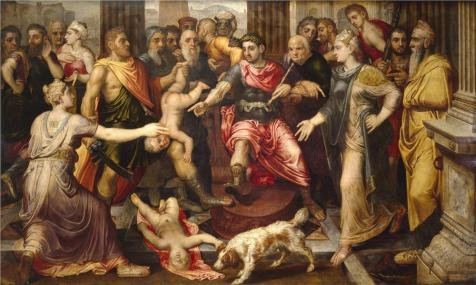 [Oil Painting 'Frans Floris I - Judgment Of Solomon,16th Century' Printing On Perfect Effect Canvas , 24x40 Inch / 61x102 Cm ,the Best Gift For Girl Friend And Boy Friend And Home Artwork And Gifts Is This High Definition Art Decorative Prints On] (16th Century Costumes For Sale)