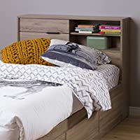 South Shore Fynn 39 Headboard with Storage, Twin, Rustik Oak