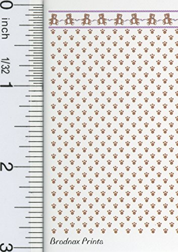 dollhouse Miniature 1:48 Scale Sugar Bear Wallpaper (6 Sheets) from dollhouse