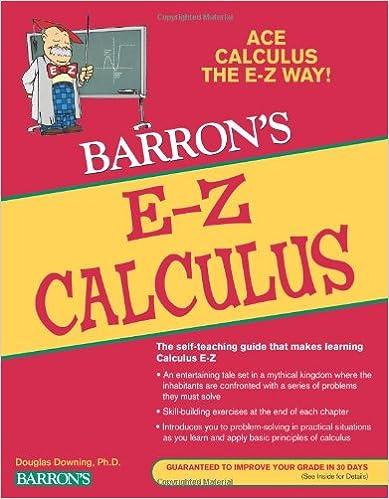 E z calculus barrons e z series douglas downing phd e z calculus barrons e z series 5th revised edition edition fandeluxe Choice Image