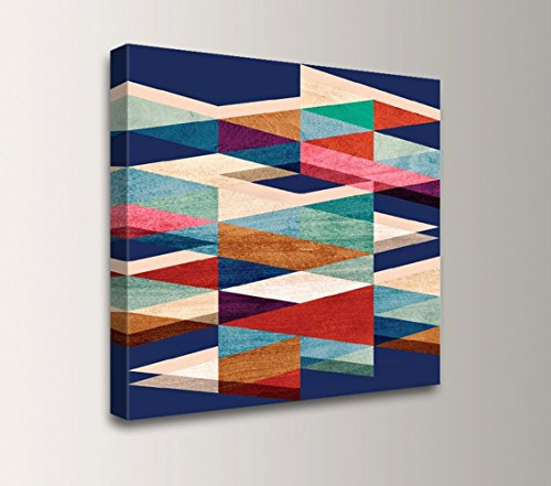 """Blue Symmetry"" – Mid Century Modern Art Canvas 51LScGG63CL"