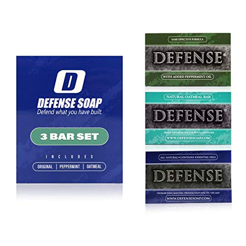 (Defense Soap 3 Bar Soap Set - Original, Peppermint, and Oatmeal)
