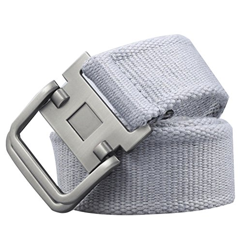 Xhtang Men's Fashion D-Ring Buckle Sturdy Canvas belt Waistband - Classic Belt D-ring