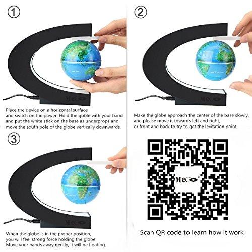 Amazon Meco 3 C Shape Magnetic Levitation Floating Globe