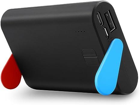 Expresstech @ Batería externa de carga rápida Alta capacidad 10000mAh ajustable Soporte Cargador de batería Portátil batería respaldo Powerbank para Nintendo switch NINTENDO SWITCH NS: Amazon.es: Videojuegos